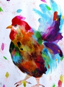 dessin animaux coq coq aquarelle animal art nature : Coq