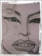 dessin personnages marylin norma regard lumiere : Regardes-moi